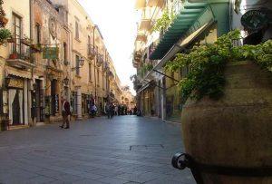 Corso Umberto in Taormina - Sicily