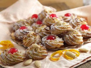Pastries with Almond Paste and Candied Fruit
