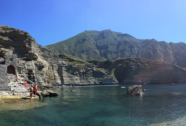 Pollara Beach at Salina Aeolian Islands
