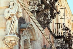 Cosentini Palace Baroque mascarons